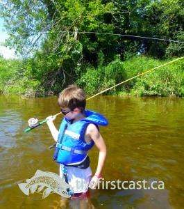 Family Learn to Fly Fish Lesson Wet Wading TT