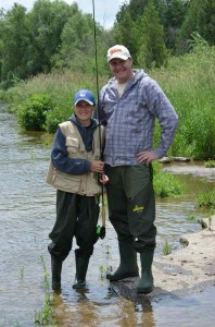 Father and Son, Bruno and Paul on the Grand River