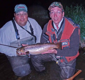 Flavio & Brian Guided Night Fly Fishing on the Grand