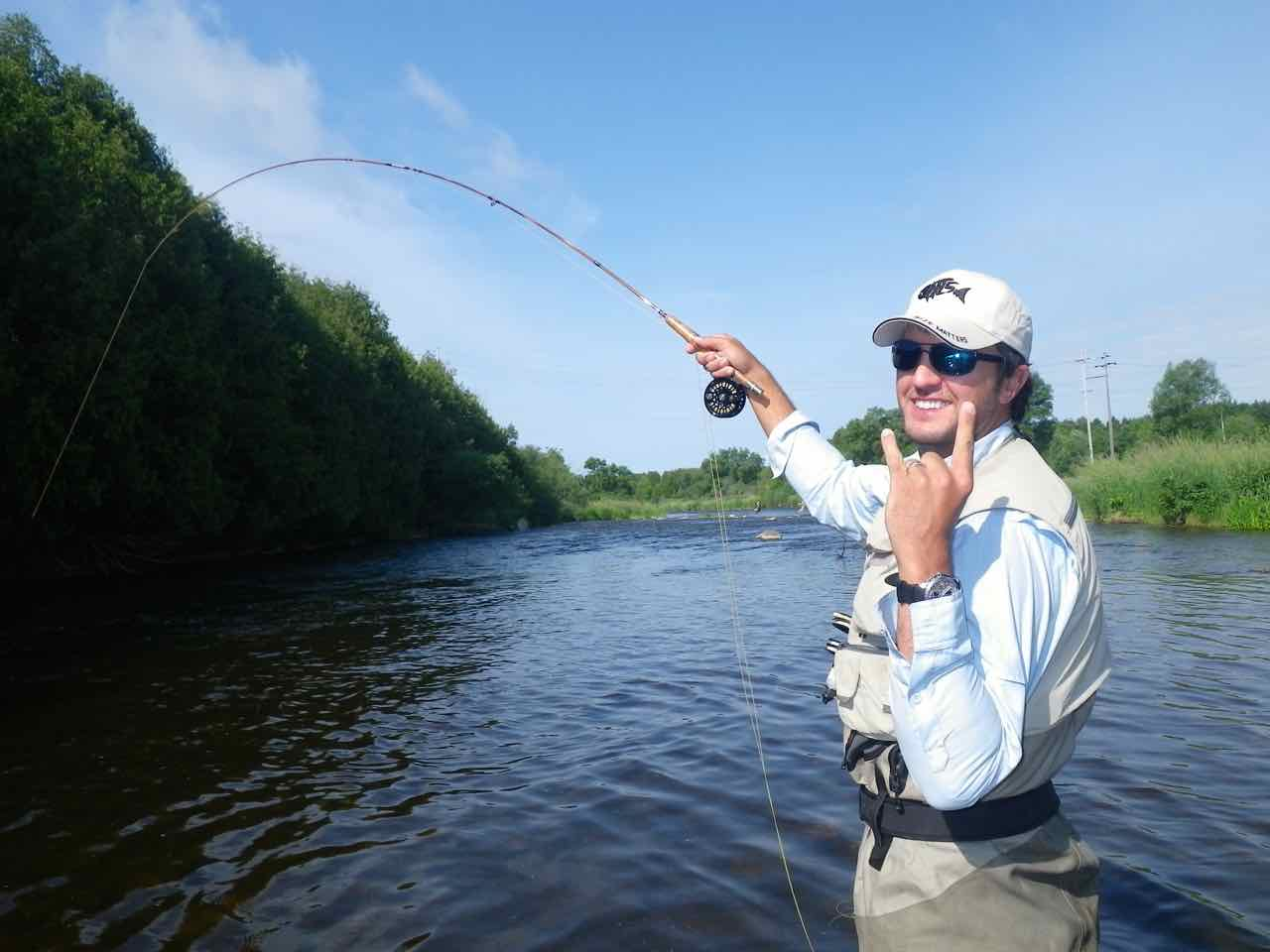 Fly fishing and guiding service for Grand river fishing