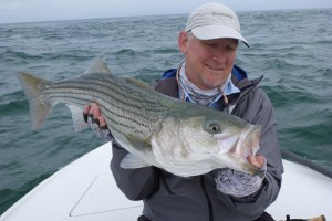 Phil Clough Striper on the Fly