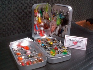Richard Wheatley fly box Atlantic Salmon flies