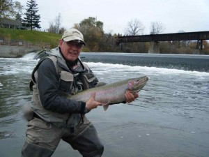Andy with a Grand River Steelhead at Caledonia