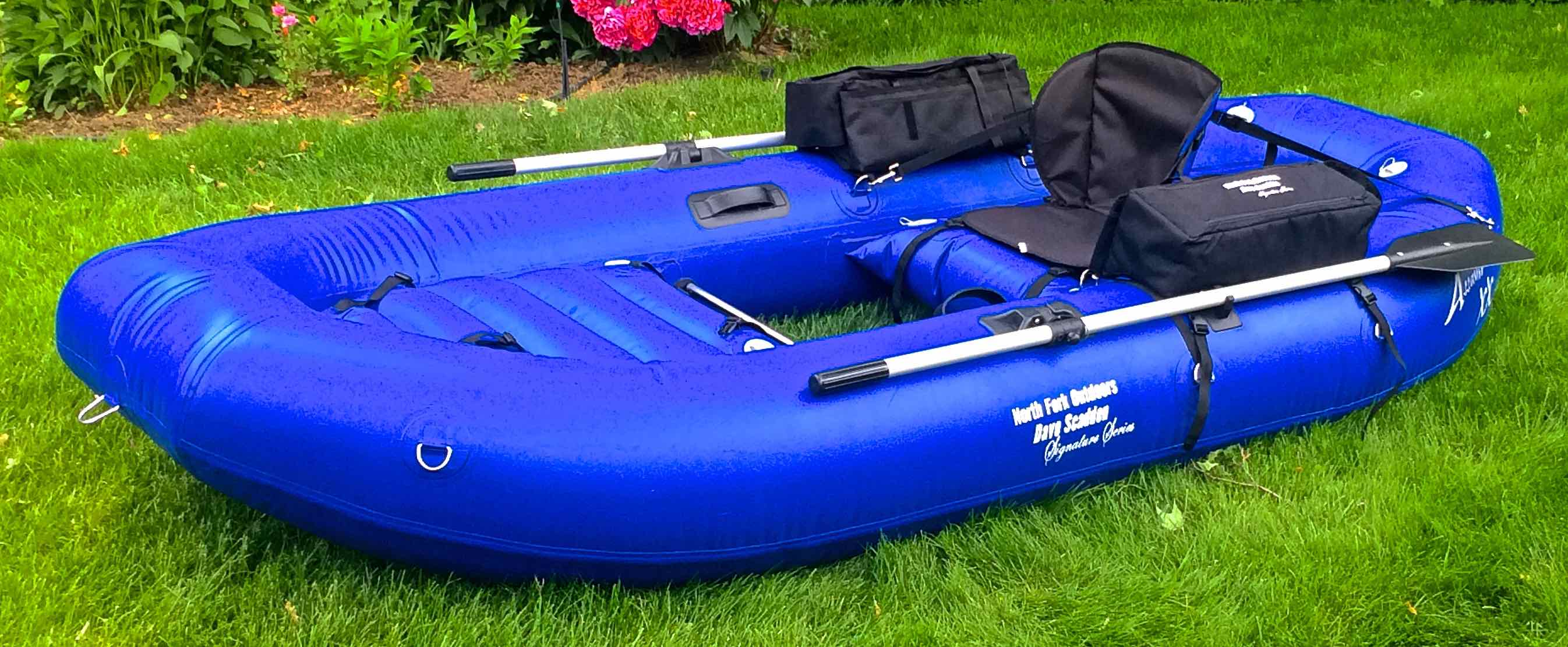 Dave scadden inflatable pontoon style boats for Inflatable pontoon fishing boat