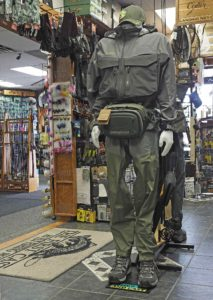 Mannequin HLS TFC in store Wader and Wading Jacket Display.