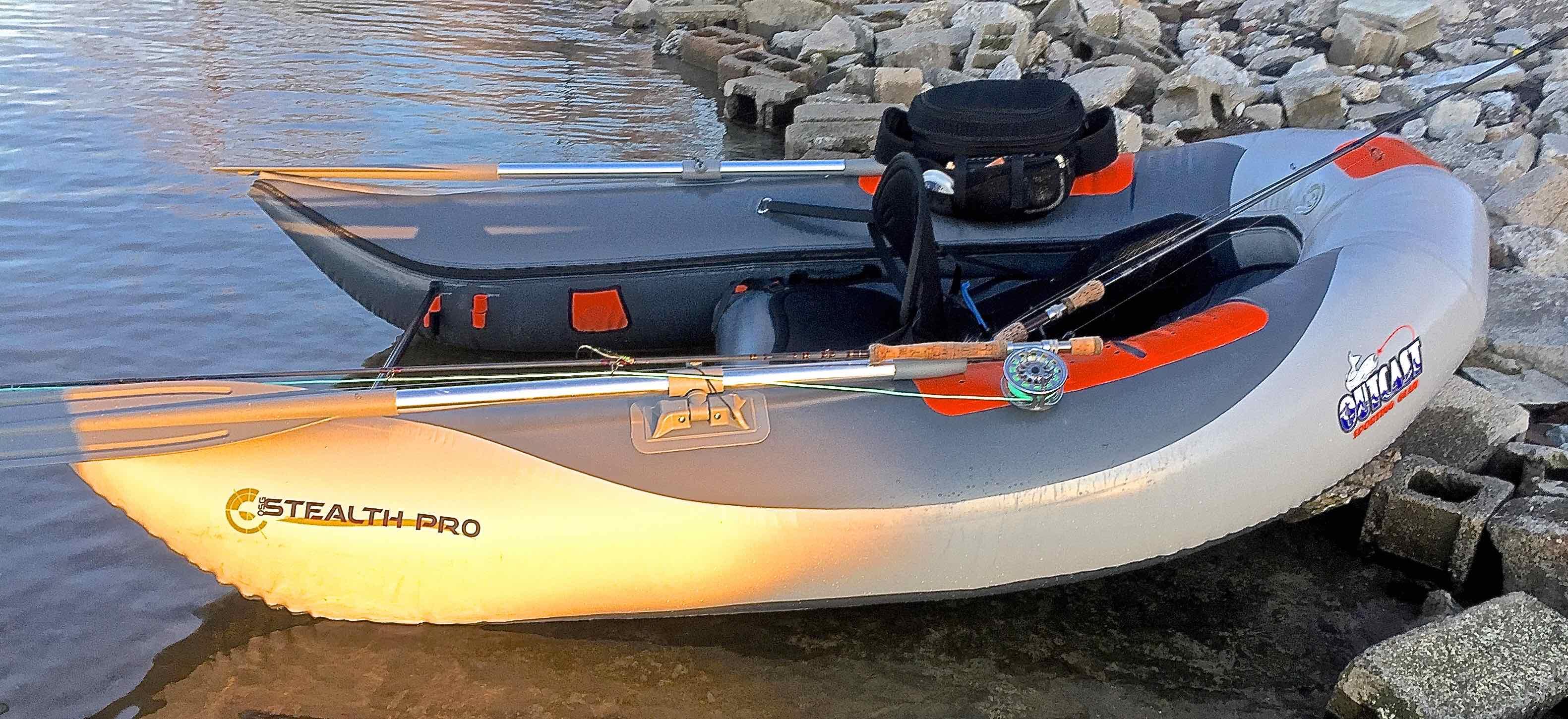 Outcast inflatable pontoon style boats the first cast for Inflatable pontoon fishing boat