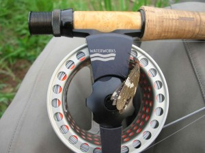 Waterworks Lamson Fly reel with a Dobsonfly