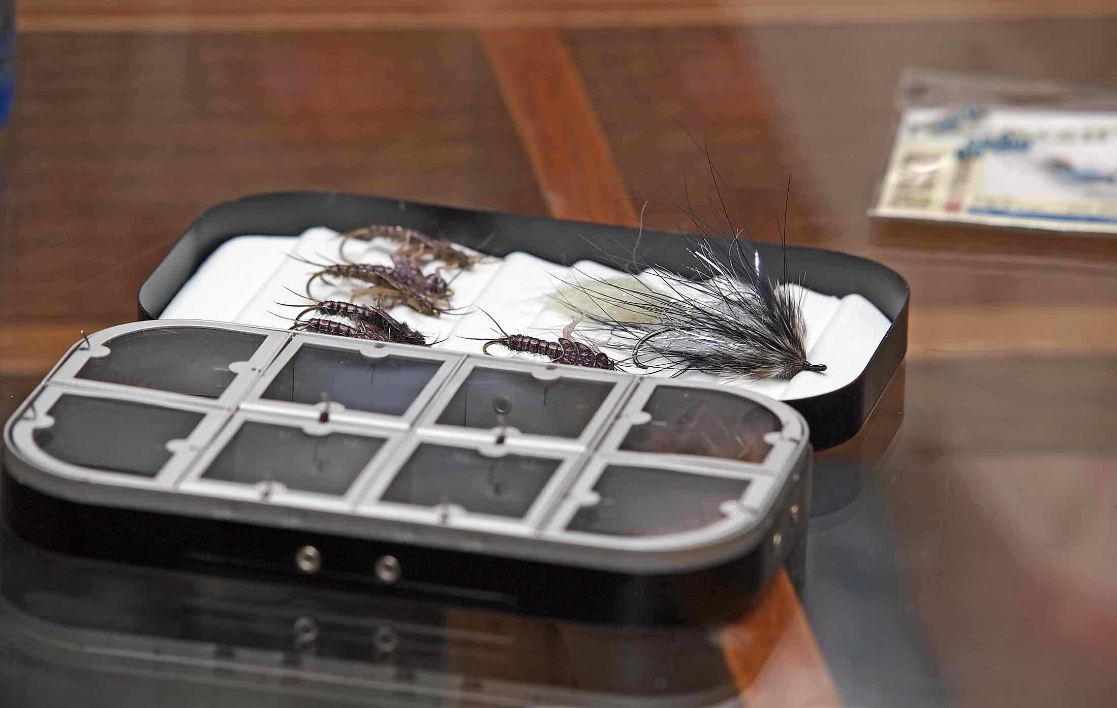 Richard wheatley fly boxes the first cast hook line for Fly fishing box