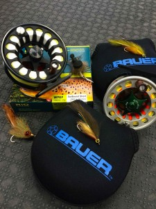 Bauer Fly Reels and RIO Outbound Fly Line.