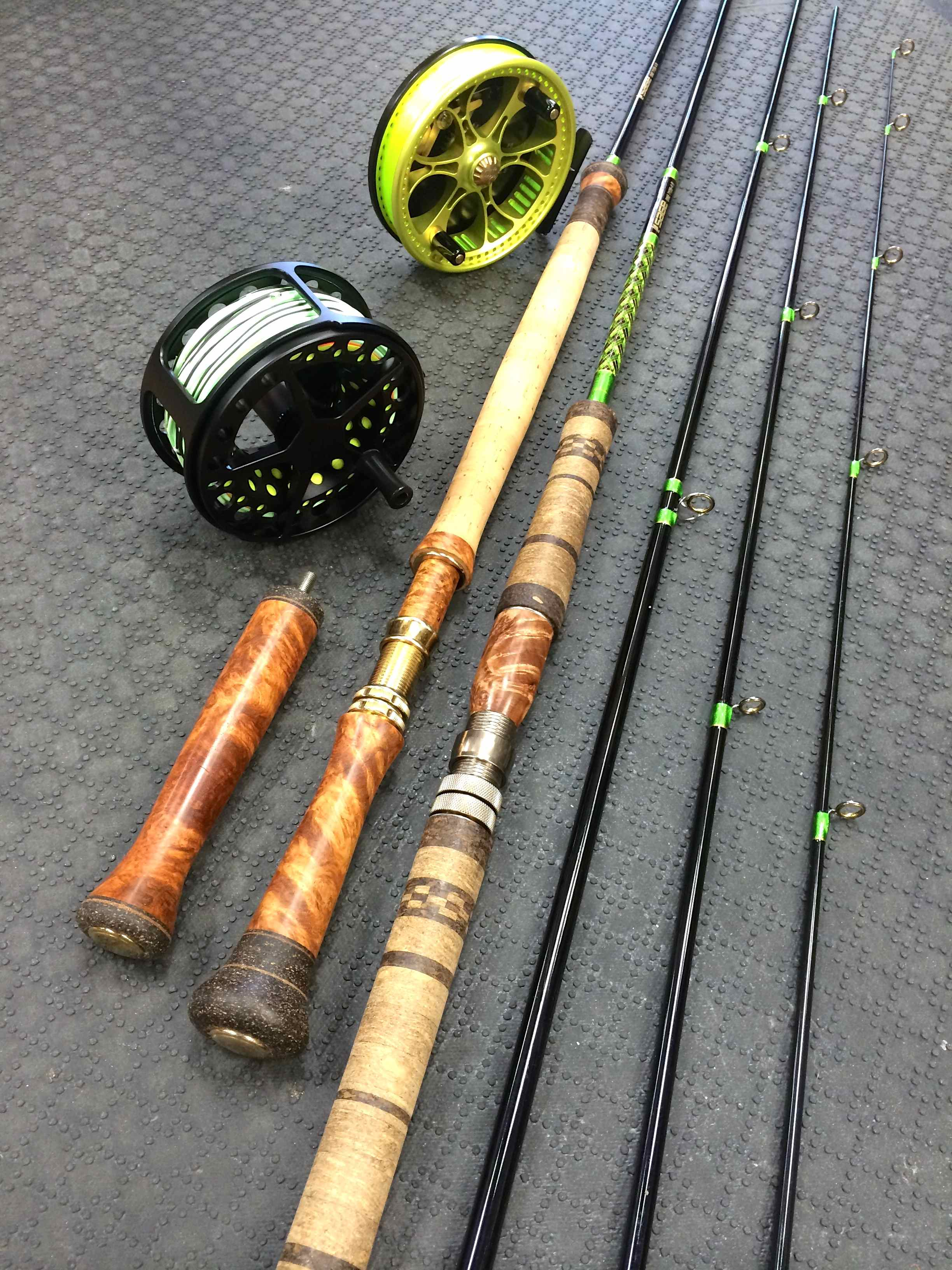 Rod building 101 with mike rumig the first cast hook for Personalized fishing rods