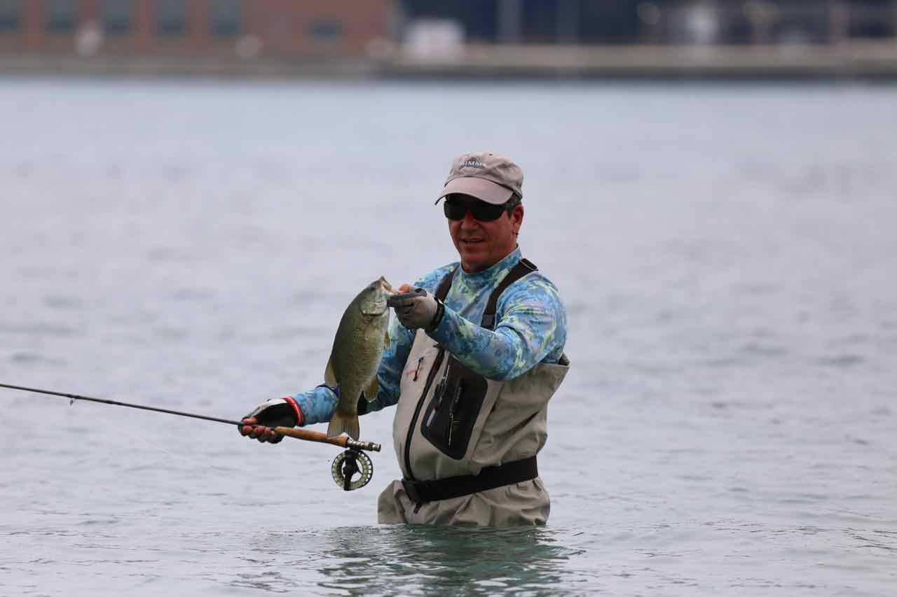 Brian primeau fishing the flats canadian style for Bass fly fishing