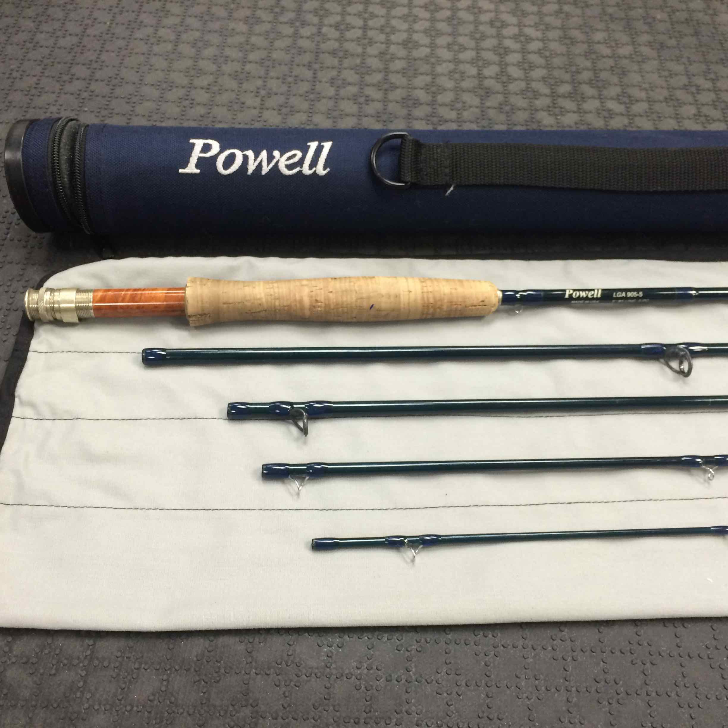 Sold powell fly rod lga 905 5 9 foot 5 piece 5wt 75 for Powell fishing rods