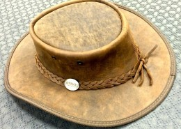 Barmah Squashy Genuine Cattle Leather Hat Size XL AA