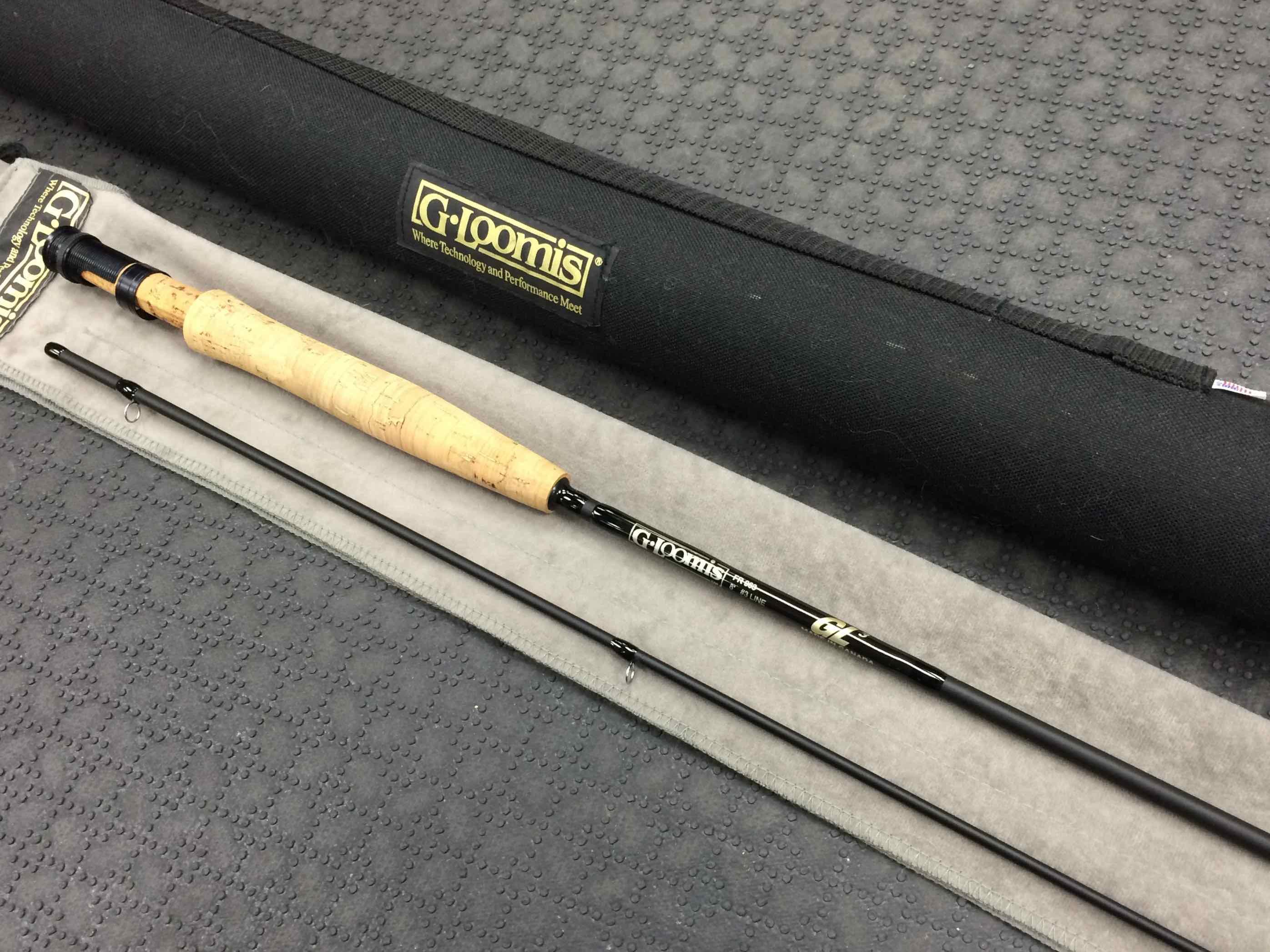 Sold g loomis gl3 fr963 3wt 2piece fly rod c w sock for Fishing rod socks