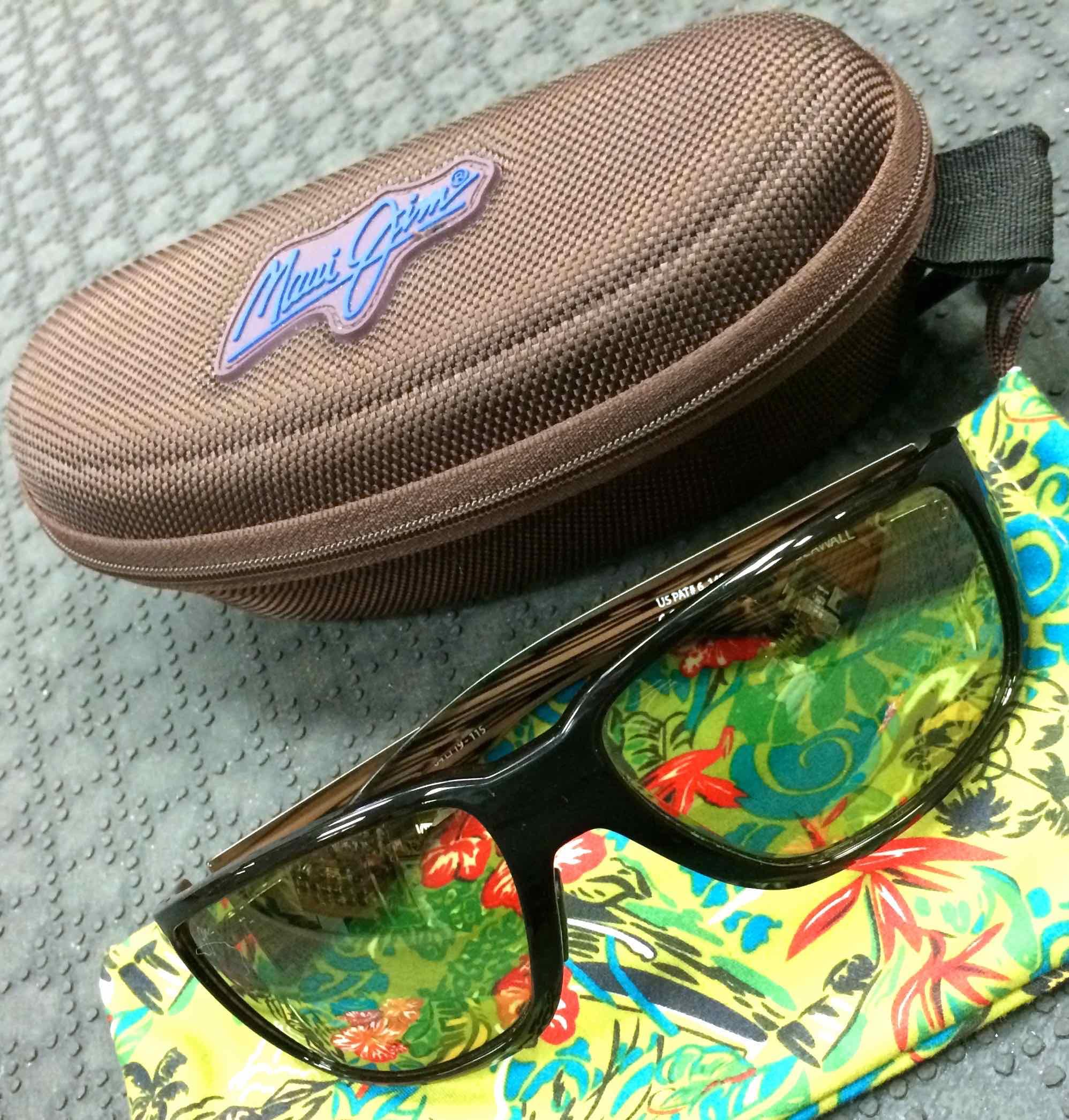 Sold maui jim seawall polarized sunglasses like for Fly fishing maui