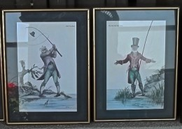 Norman Orr Fishing Print Scotland All Four Framed Prints AA