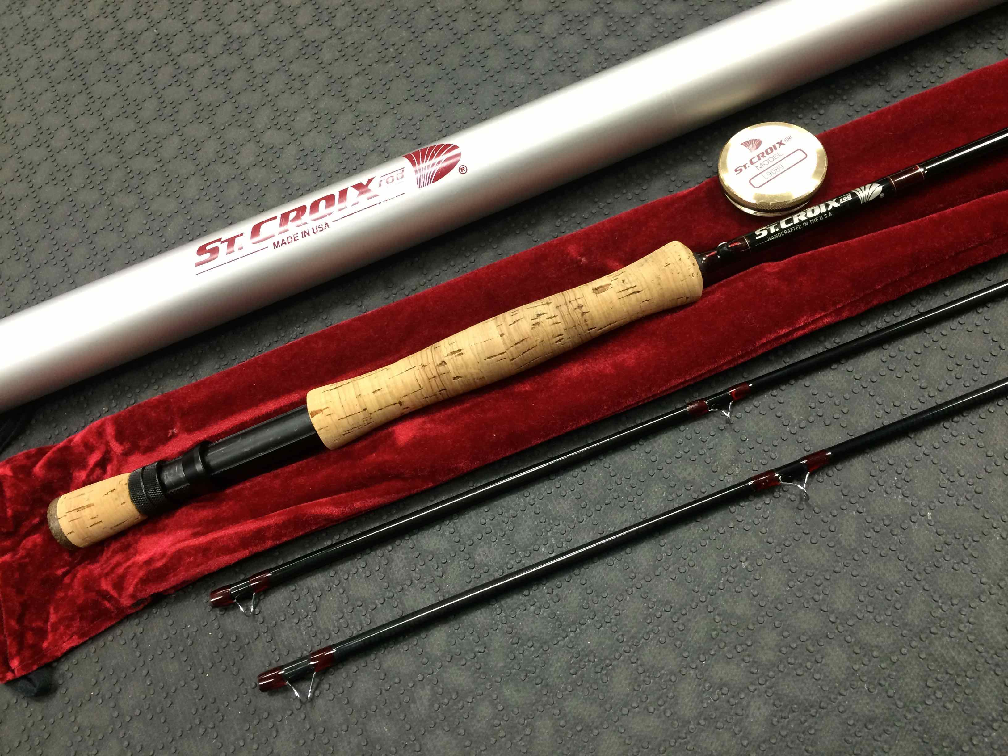 SOLD – St  Croix L9089 Two Piece Fly Rod c/w Two Tip Sections, Cloth