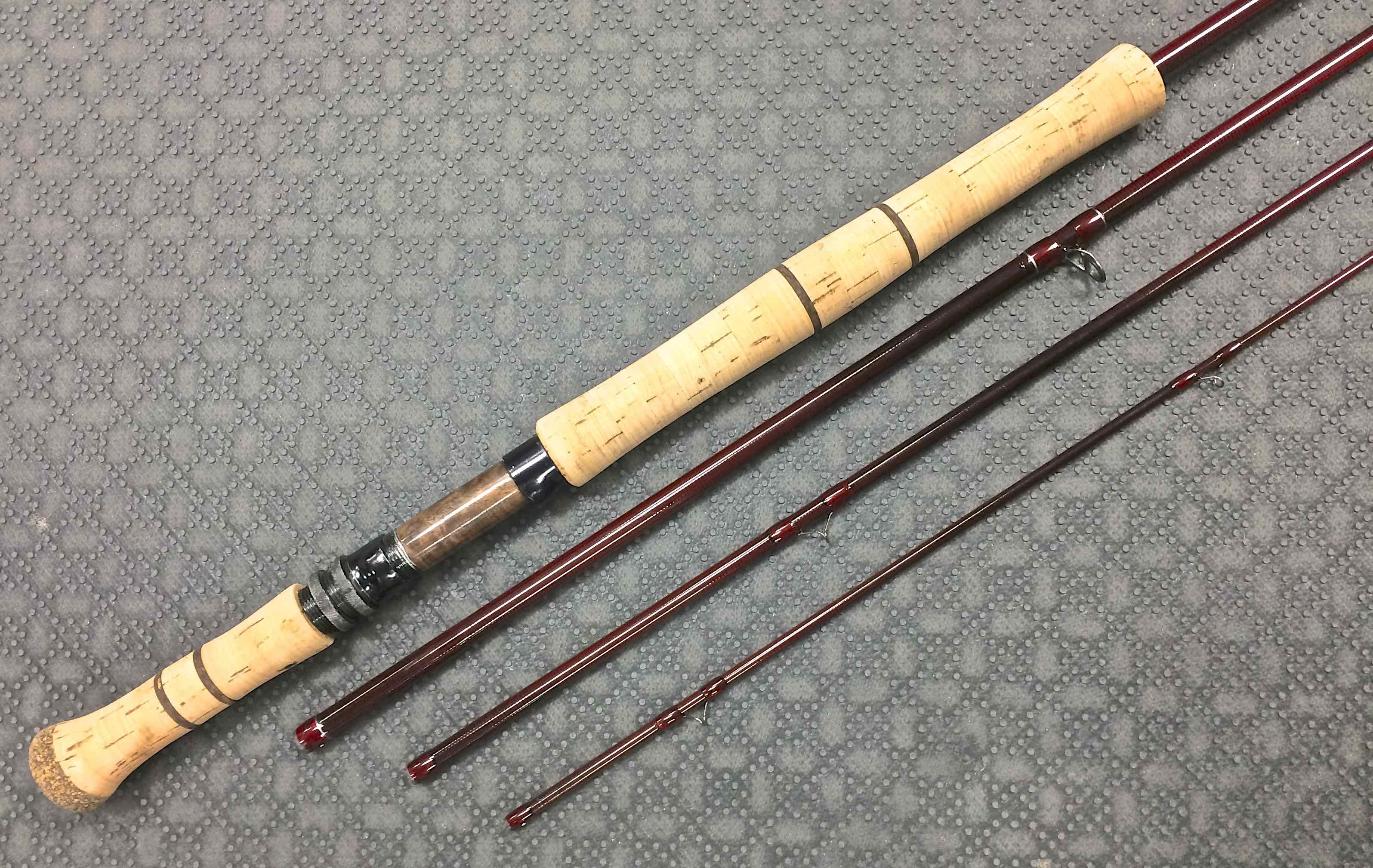 Sold custom built anglers roost 12 39 2 3 wt spey rod for Custom made fishing rods