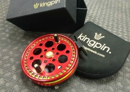 Kingpin R2 Centerpin Float Reel Red Custom Haida Engraved CCC