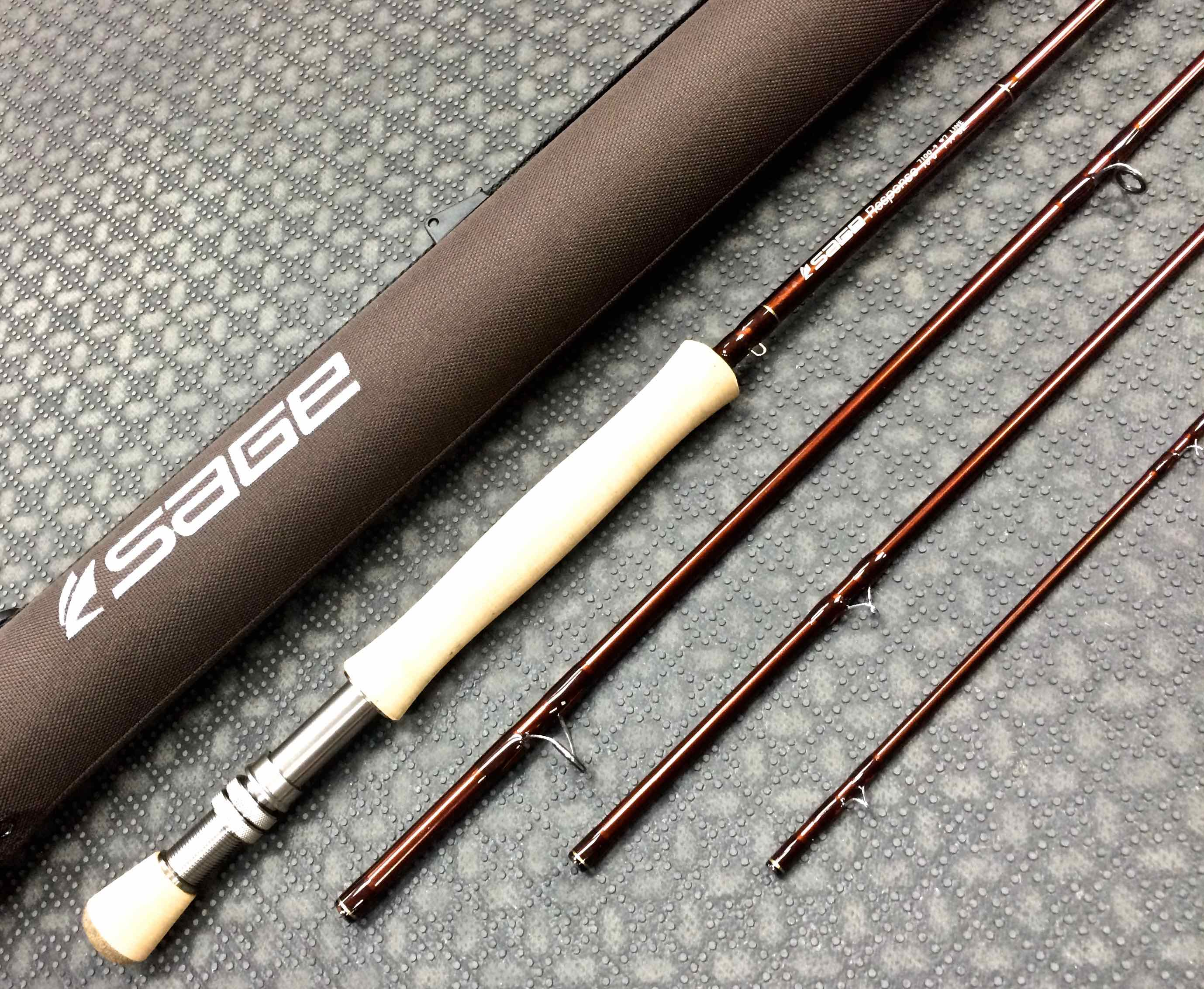 Sold sage response fly rod 7100 4 10 39 7wt 4pc for Best fishing pole brands