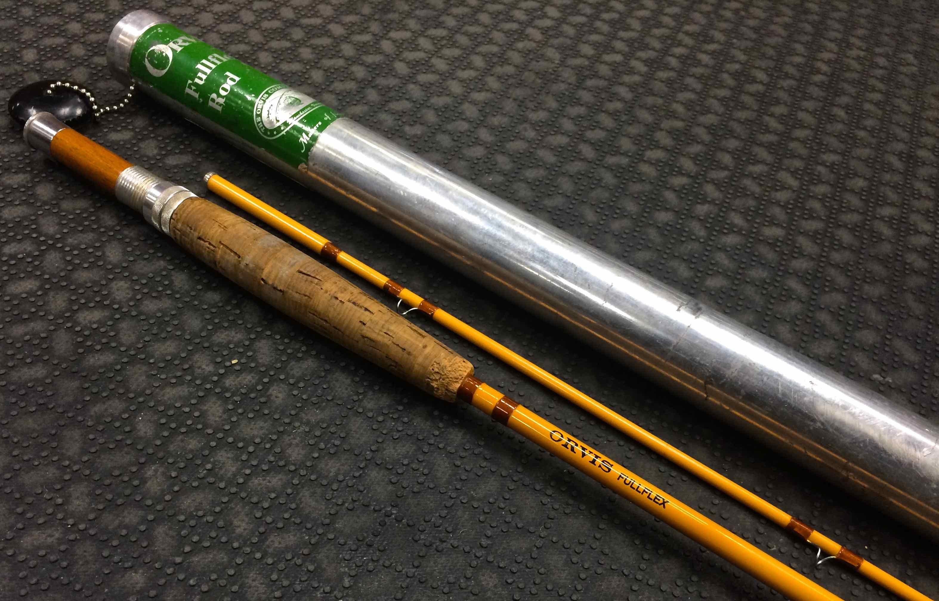 Sold vintage orvis fullflex fiberglass fly rod 7 39 6wt for Fiberglass fishing rods