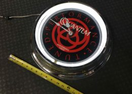 Zebco Quantum Electric Lighted Wall Clock with Battery - Like New! - $25