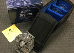 Hardy Demon Fly Reel 9000 c/w TWO Spare Spools - Great Shape - $345