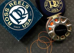 Ross Momentum 5 - Champagne c/w Airflo Ridge 20lb Running Line & Backing - $200