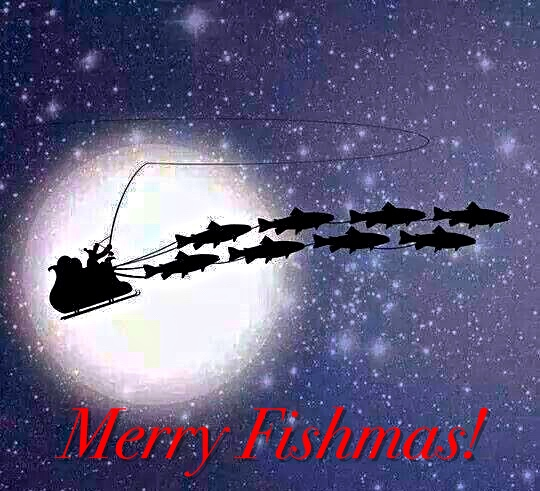 merry christmas fishing pictures christmas last chance for gift cards the first cast hook line and sinker s fly