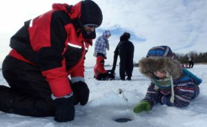 Ice Fishing Guelph Lake Conservation Area.