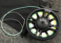 Echo Ion 7/9 Fly Reel - Switch Pike Musky Size c/w Backing, Airflo Ridge Running Line, Airflo Switch 360gr Head & 10' Int. Tip - LIKE NEW! - $100