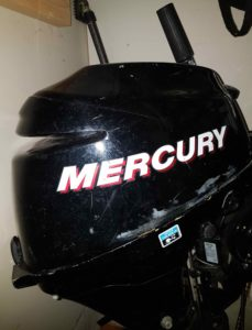 2006 Mercury 8HP 4 Stroke Motor GOOD CONDITION cw Tank and Hose - $1200
