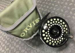 Orvis Fly Reel - Mid Arbor IV c/w Scientific Anglers WF7F Fly Line, Backing & Pouch - LIKE NEW! - $100