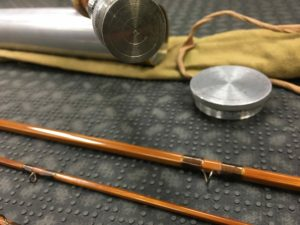 Vintage Payne - Made in USA - 3 pc Fly Rod Bamboo Fly Rod - c/w Spare Tip and Fighting Butt - $1100