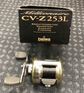 Daiwa Millionaire CV-Z253L USA Mag Force Baitcast Reel - GOOD SHAPE! - $75
