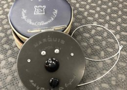 Hardy Marquis Salmon Fly Reel #1 - Made in England c/w Royal Wulff Triangle Taper 9wt TTST9F - GOOD SHAPE! - $210