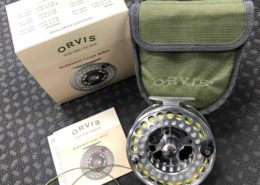 "Orvis Battenkill Large Abor VI Fly Reel - Titanium 4 1/2"" Spey Reel c/w RIO Powerflex Shooting Line & RIO AFS Scandi 520 Head - LIKE NEW! - $210"