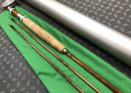 Orvis Wes Jordan 7 1/2' HGD SL Bamboo Fly Rod - 2 pc c/w Spare Tip Original Tube & Bag - LIKE NEW!