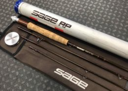 Sage RP Fly Rod - GFL490-4 Graphite II - 4Pc 9' 4 Wt c/w Rod Sock & Aluminum Tube - GREAT SHAPE! - $150
