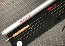 Scott G2 804-4 4pc Fly Rod c/w Custom Reel Seat & Agate Stripping Guide - LIKE NEW!