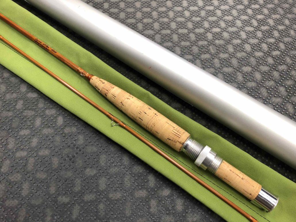 Orvis Flea Weight Bamboo Cane Rod - Built By Owner - Blank Kit Impregnated 1977 Tonkin Cane - 6 1/2' 3/4wt 2 pc c/w Sock & Aluminum Tube