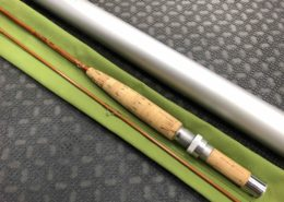 Orvis Flea Weight Bamboo Cane Rod - Built By Owner - Blank Kit Impregnated 1977 Tonkin Cane - 6 1/2' 3/4wt 2 pc c/w Sock & Aluminum Tube