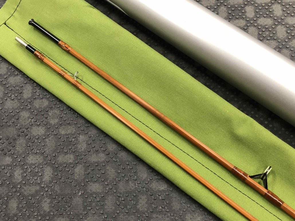 Orvis Flea Weight Bamboo Cane Rod - Built By Owner - Blank Kit Impregnated 1977 Tonkin Cane - 6 1/2' 3/4wt 2 pc c/w Sock & Aluminum Tube - MINT CONDITION! - $150