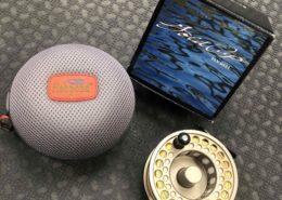 Gold Cup IV Spey Reel - Goldstone c/w Bill Drury 9/10 Spey Line & Fishpond Kodiak Large Reel Case - LIKE NEW! - $155