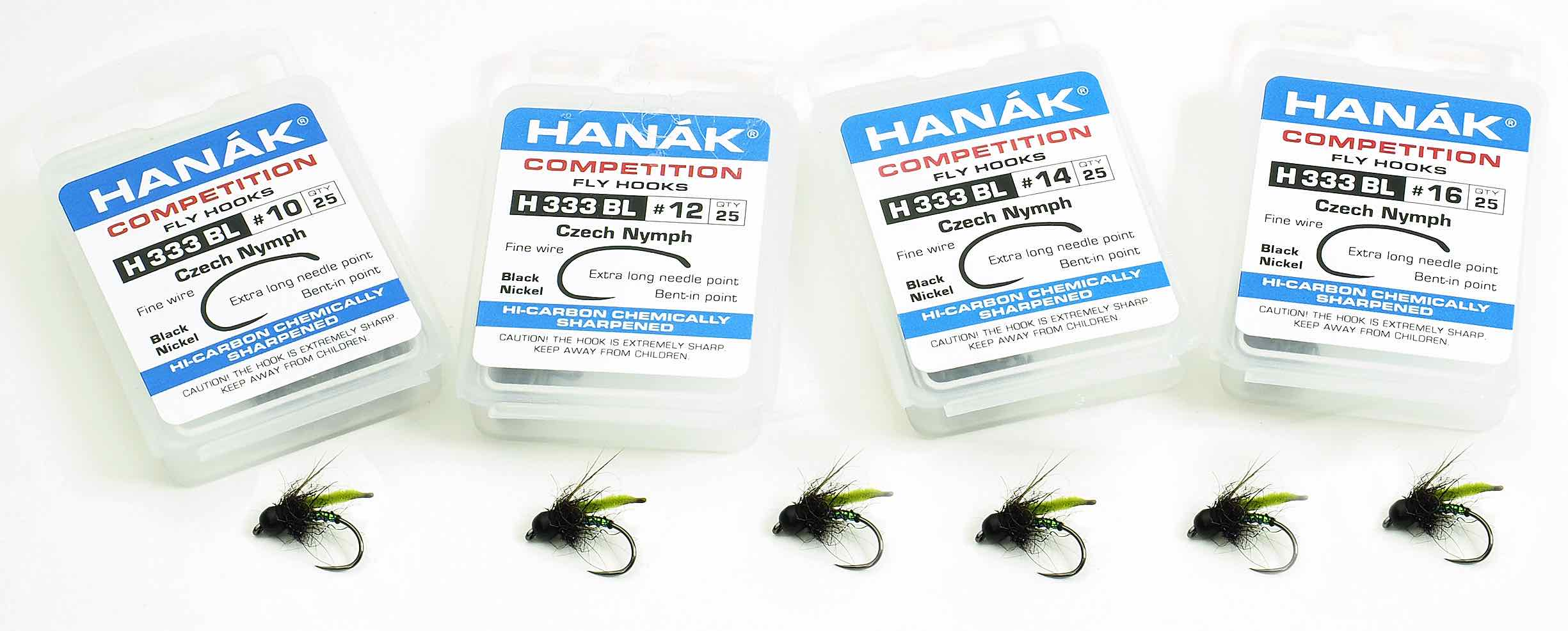 Hanak Competition H333BL Czech Nymph Barbless Hook