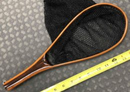 "Hand Crafted Brook Trout Landing Net - Hoop Size 9 1/2"" x 4 3/4"" - GREAT SHAPE! - $50"