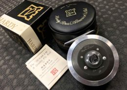 Hardy The Sunbeam 5/6 Fly Reel Palmable Spool Rim & Agate Line Guide c/w Original Box, Pouch, Paperwork & RIO Aqualux WF5 Fly Line - GOOD CONDITION! - $180