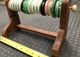 Custom Leader Tying Station c/w 22 Tippet Spools - GREAT IDEA! - $15