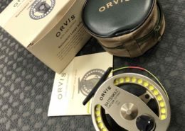Orvis Battenkill Large Arbour II Fly Reel - Model 01-E1-61 c/w Cortland 333 WF5 Fly Line, Original Box & Pouch - EXCELLENT CONDITION! - $160
