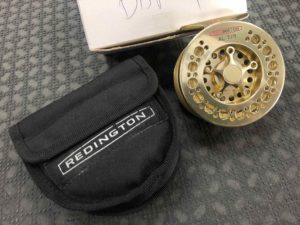 Redington Large Arbor Fly Reel - AL 7/8 Goldstone c/w Royal Wulff TT7F & Pouch - EXCELLENT CONDITION! - $175